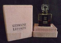 Flacon à parfum ancien des années 40, Soir de fête de Germaine Lecomte, Paris