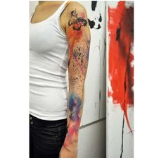 Akwarelowy tatuaż - 35 HOT wzorów na ręce, nogi i plecy - Strona 24