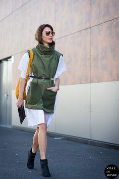 Paris Fashion Week FW 2015 Street Style: Ece Sukan - STYLE DU MONDE | Street Style Street Fashion Photos