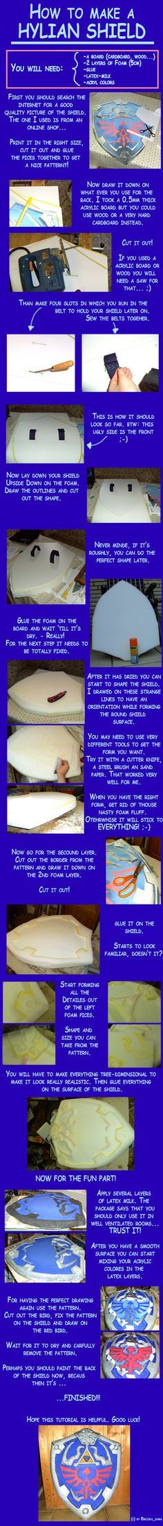 How to make a Hylian shield by ~Eressea-sama on deviantART