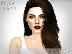 The Sims Resource: Bella Swan and Kristen Stewart by Softspoken • Sims 4 Downloads