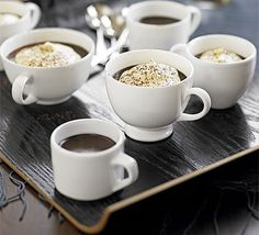 What better way to finish a meal than rich chocolate truffles and coffee? This easy dessert combines the two