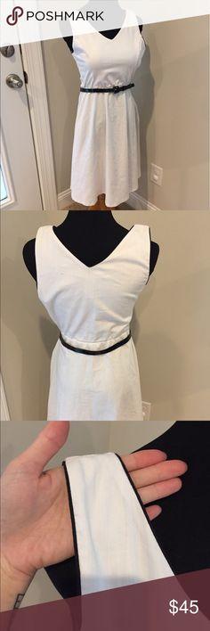 Vintage retro white v neck dress Vintage retro white v neck dress. Made by yellow star Dresses Midi