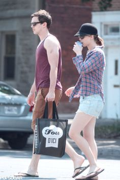 Jennifer Lawrence and Nicholas Hoult took a walk together in Montreal.
