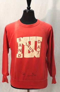 Vintage 1966 Band Day College Sweatshirt Hanes Large 60s | eBay