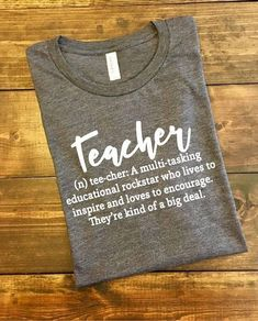 Teacher Appreciation Week Discover Teacher Shirts Teacher Definition Shirt Teacher T-Shirt Funny Teacher Shirt Teacher Life T-Shirt Teacher Life Graphic T-Shirts Teacher Teacher Shirts, School Teacher, Teacher Wear, Math Shirts, Teacher Bags, Student Teacher, Vinyl Shirts, Student Gifts, Work Shirts