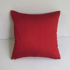 dark red silk pillow cover 18 inch throw by Comfyheavenpillows, $29.40