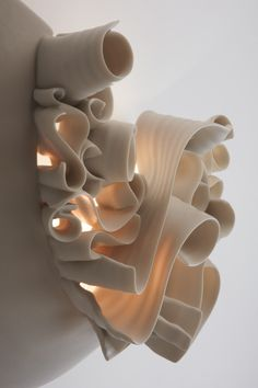 Beautiful idea with rolled very thin pieces of clay - looks like porcelain - Imelda Half Light