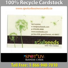 100 recycled business cards