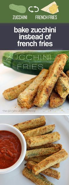 Bake zucchini instead of french fries @veronicalewi