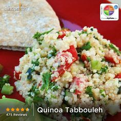 Quinoa Tabbouleh from Allrecipes.com #myplate #grain #veggies