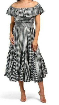 Ruffle Top, Summer Dresses, Maxi Dresses, Smocking, Gingham, Off The Shoulder, Chelsea, Short Sleeve Dresses, My Style