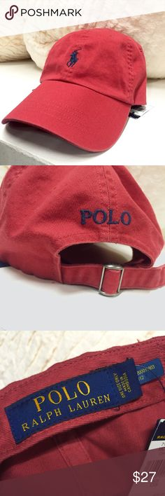 Red Polo Ralph Lauren Cap (UNISEX) This rustic red will look perfect with all your fall outfits! Will fit women and men since it has an adjustable strap. Send me a reasonable offer! 😊❤️ Polo by Ralph Lauren Accessories Hats
