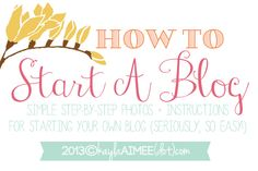 How To Start A Blog w/step by step pictures + instructions (Buying your domain and installing wordpress!)