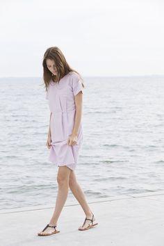 organic women fashion :) lavender seersucker dress 2291
