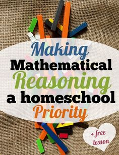 In today's world, it seems there are thousands of skills we need to teach, but what if there was one skill we could teach that would be transferable to all subjects?  Mathematical reasoning is that skill, and job market tells us it should be a homeschool priority.