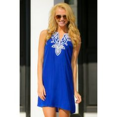 Modern Traditions Dress-Royal Blue