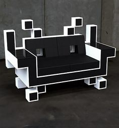 Space Invaders Couch No 2 - haha!