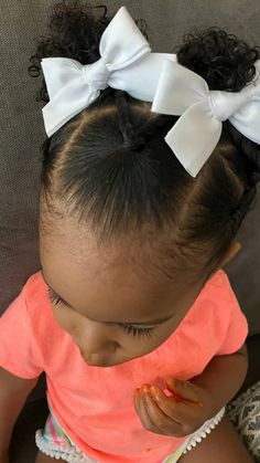 Little Girls Natural Hairstyles, Toddler Braided Hairstyles, Kids Curly Hairstyles, Pigtail Hairstyles, Baby Girl Hairstyles, Natural Hair Styles For Black Women, Toddler Braid Styles, Biracial Hair, Toddler Girl Style