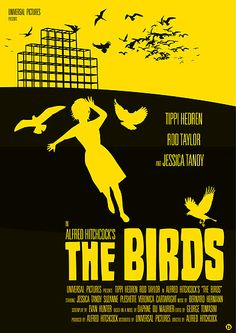 Alfred Hitchcock's The Birds  The first scary movie I remember watching. I had to go and sleep with my parents after watching it.