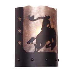 Steel Partners 8 Seconds Timber Ridge 1 Light Wall Sconce Shade Color: Khaki, Finish: Black