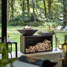 Vandaag besteld is morgen geleverd. Huren is ook mogelijk. Wood Grill, Fire Grill, Fireplace Furniture, Custom Fireplace, Exterior Design, Interior And Exterior, Plancha Grill, Outdoor Balcony, Firewood