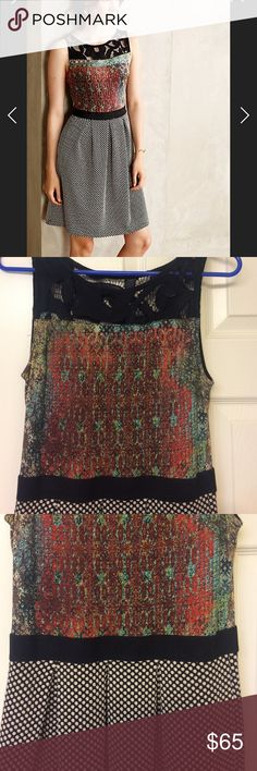 Anthropologie Weston Galina Print Dress Gorgeous dress in excellent condition, but unfortunately since I own so many dresses this one has sat unworn. This piece needs to be enjoyed! Anthropologie Dresses