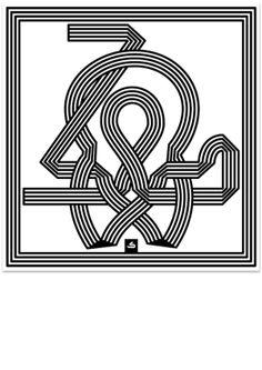 Escher-esque Kufic Kaf by Kristyan Sarkis, via Behance