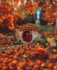 Autumn Scenes, Cabin In The Woods, Autumn Cozy, Happy Autumn, Autumn Aesthetic, Autumn Photography, Fall Pictures, Fall Pumpkins, Fall Halloween
