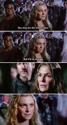 #the100 clarke and abby