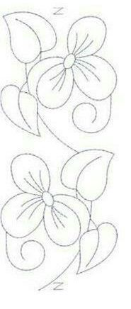Embroidery Designs 2018 31 Ideas For 2019 Hand Embroidery Designs, Ribbon Embroidery, Beaded Embroidery, Embroidery Stitches, Embroidery Patterns, Quilt Patterns, Quilting Stencils, Quilting Designs, Punch Needle Patterns