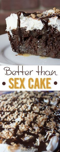 Better than sex cake is the BEST cake you will ever have! desserts Better Than Sex Cake Desserts Nutella, Mini Desserts, Easy Desserts, Delicious Desserts, Yummy Food, Beste Desserts, Thanksgiving Chocolate Desserts, Nutella Cookies, Cake Cookies