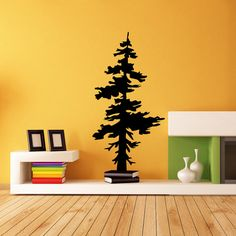 Vinyl Wall Decal Sticker big Pine Tree Removable wall decal bedroom living room dining area church, office room wall decal sticker  FS @ 30