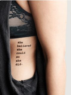 She Believed She Could So She Did Quote Tattoo