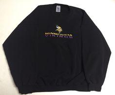 Vtg Minnesota Vikings Sweatshirt Crewneck 3XL Logo 7 XXXL Black NFL Football    eBay #minnesotavikings #minnesota #vikings #vtg #logo7 #nfl #football #crewneck #sweater #sweatshirt #90s