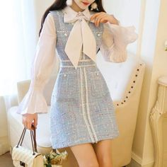 Korean Fashion Trends you can Steal – Designer Fashion Tips - Her Crochet Girly Outfits, Mode Outfits, Korean Outfits, Classy Outfits, Pretty Outfits, Pretty Dresses, Casual Outfits, Korean Dress, Princess Outfits