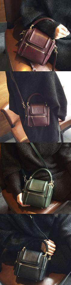 7d77a480e6b Genuine leather vintage women handbag shoulder bag crossbody bag Purses And  Handbags, Leather Handbags,