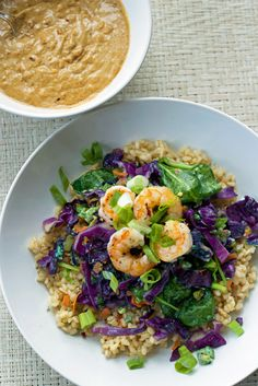 Shrimp-Brown-Rice-Bowl-with-Spicy-Peanut-Sauce_4-from-thefitnut.com