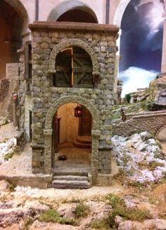 álbumes de fotos Fontanini Nativity, Diy Nativity, Miniature Rooms, Miniature Houses, Easter Play, Christmas Village Display, Medieval Houses, Ceramic Houses, Wood Beds