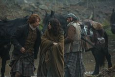 Caitriona Balfe as Claire Fraser and Sam Heugan as Jamie Fraser  in Season One of Outlander on Starz