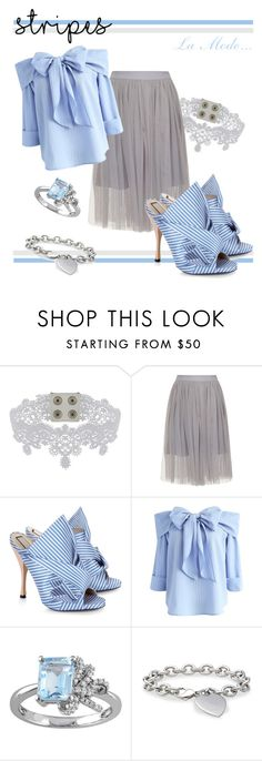 """La Mode...: stripe-mode #2"" by lamodelle ❤ liked on Polyvore featuring Manokhi, N°21, Chicwish, Laura Ashley, Blue Nile, BoldStripes, boldstripe and oncode"