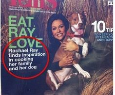 Are a few little commas too much to ask?  Or do Rachael's culinary interests really run in such an odd direction?