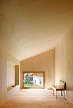 Historic Barn Converted into a Peaceful Retreat. Camponovo Baumgartner Architekten were hired to convert the barn into a guest house without harming the historic exterior. The renovations echo the original materials, as the house is made entirely of untreated wood, from the native larch floors to the birch walls and ceilings. Read more: http://blog.gessato.com/2014/04/28/casa-c-a-historic-barn-converted-into-a-peaceful-retreat/#ixzz388BHG79r