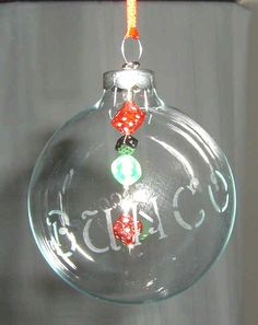 Bunco Christmas ornament!