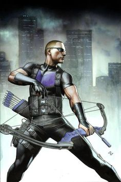 Hawkeye once walked the crooked path, but while he's considered a hero, his wise mouth doesn't indicate he's that straight. LGT the long story that is the life story of Clint Barton and how Iron Man, whom he reluctantly fought, helped him become an Avenger and how Captain America helped him remain one. A speedy archer, Barton would rely on a diverse arsenal in later appearances.