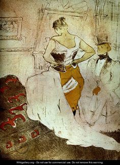 Woman bust or with passing conquest - Henri De Toulouse-Lautrec
