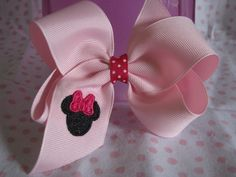 Minnie Mouse Monogrammed Hair Bow. $5.00, via Etsy.