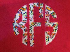 Flip Flop Circle Monogram Personalized Name Towel