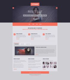 Free PSD Template from alltemplateneeds.com by Shaik Mohammad Rafi, via Behance