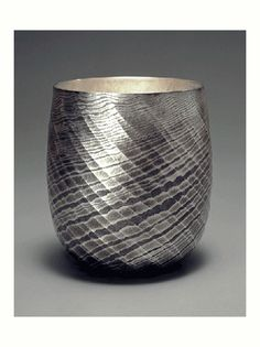 Mokume Gane raised vessel an absolutely gorgeous piece by designjapancraft Osumi Yukie
